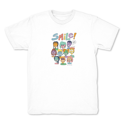 Smile White T shirt