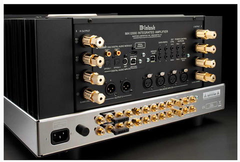 McIntosh MA12000 Hybrid Integrated Amplifier Rear Panel Connections
