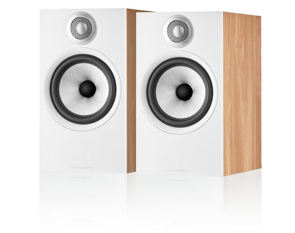 Bowers & Wilkins 606 S2 White and Oak Finish