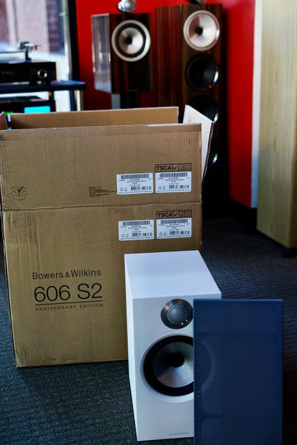 Bowers & Wilkins 606 S2 Anniversary Edition after removing from box