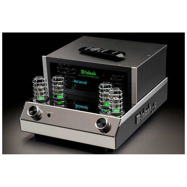 McIntosh C8 Tube Preamplifier Front Angle