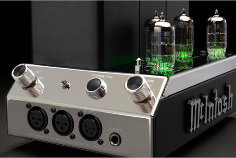 McIntosh MHA200 Vacuum Tube Headphone Amplifier Connections and Volume Control