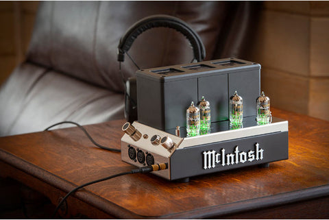 McIntosh MHA200 Vacuum Tube Headphone Amplifier Angle View