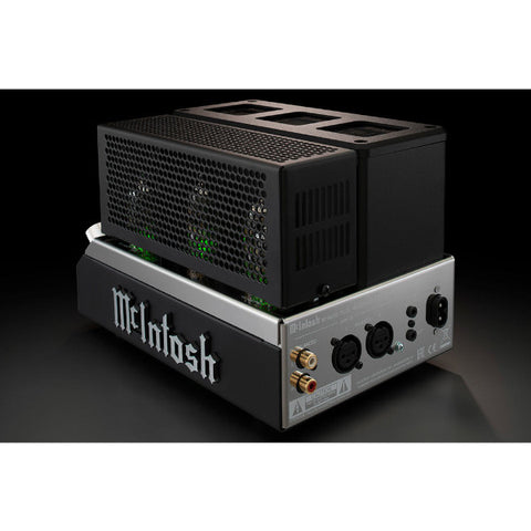 McIntosh MHA200 Tube Headphone Amplifier Rear Connections and Tube Cage
