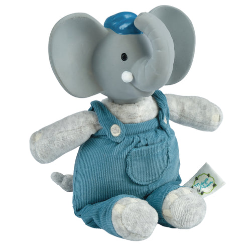 alvin the elephant baby soft toy with teether
