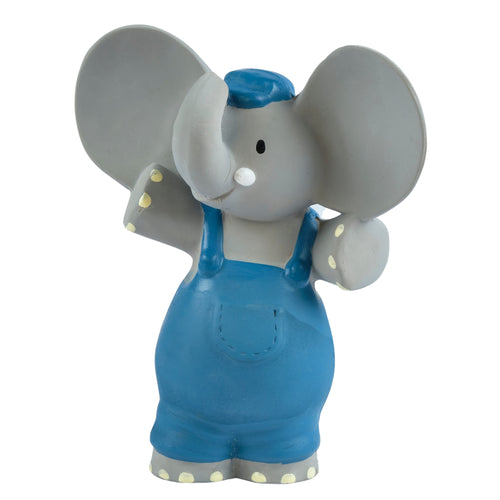 Alvin the elephant all rubber baby squeaker teething toy