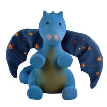 Midnight dragon rubber baby teether and rattle toy