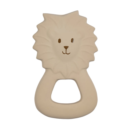 Lion natural rubber baby teether toy