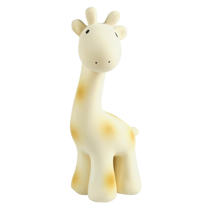 Giraffe natural baby teether rattle and bath toy