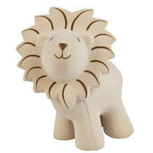 Lion natural rubber baby teether rattle and bath toy