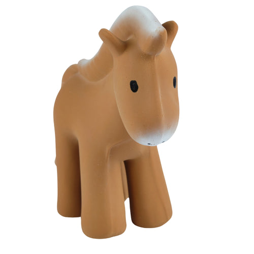 Horse - Natural Rubber Baby Teether Rattle & Bath Toy