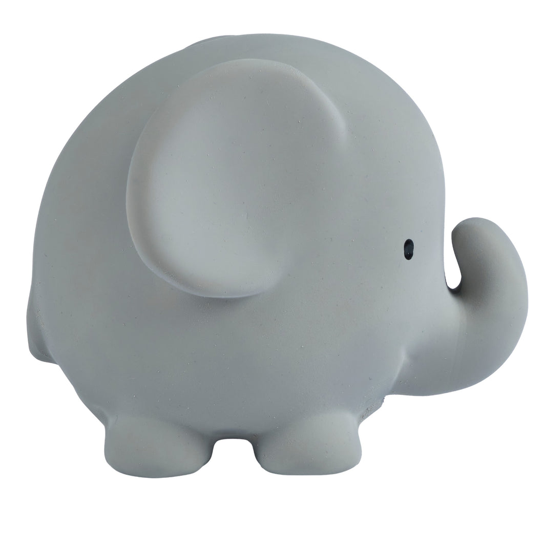 Elephant natural rubber baby teether and bath toy