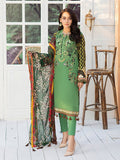 3pc Lawn Suit- Printed Embroidered Shirt with Dyed Cambric Trouser & Printed Chiffon Dupatta - Silkoria (WK-00537A)