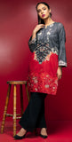 Stitched Digital Printed Embroidered Lawn Kurta With Embellishment I 1Pc  Casual Pret (CP-01)