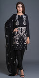 Lawn Shirt with Embroidered Front , Embroidered Chiffon Dupatta & Cambric Trouser I 3pc (BW-07)
