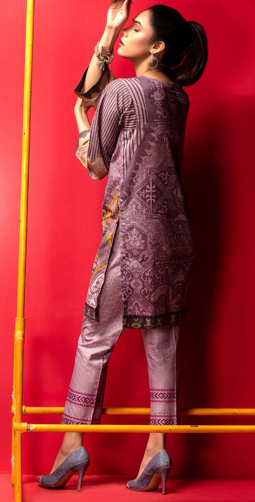 Stitched Digital Printed Embroidered Lawn Kurta with Embellishments I 1Pc  Casual Pret (CP-09)