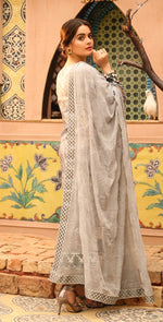Printed Lawn with Embroidered Shirt , Chiffon Embroidered Dupatta & Trouser Bunches | 3pc (WK-295B)