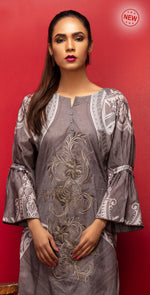 Stitched Digital Printed Embroidered Lawn Kurta with Embellishments | 1Pc  Casual Pret (CP-03)