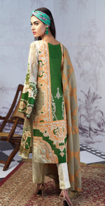 Printed Lawn Shirt with Embroidered Front & Lawn Jacquard Dupatta | Festive Poshmal 3pc (WK-310A)