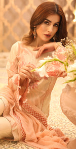 Printed Lawn with Embroidered Shirt , Chiffon Embroidered Dupatta & Trouser Bunches | 3pc (WK-295A)