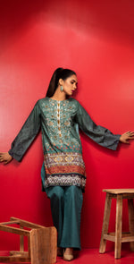 Stitched Digital Printed Embroidered Lawn Kurta with Embellishments | 1Pc  Casual Pret (CP-05)