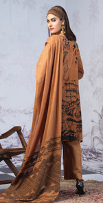 Printed Lawn Shirt with Embroidered Front & Lawn Jacquard Dupatta | Festive Poshmal 3pc (WK-311B)
