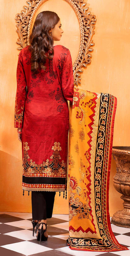 Unstitched 3pc Printed Lawn Shirt with Printed Lawn Dupatta - INAYA2 (IP-28A)