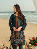 Insignia Bliss-1pc Unstitched Luxury Embroidered Organza Shirt with Raw Silk Inner (wk-00629)
