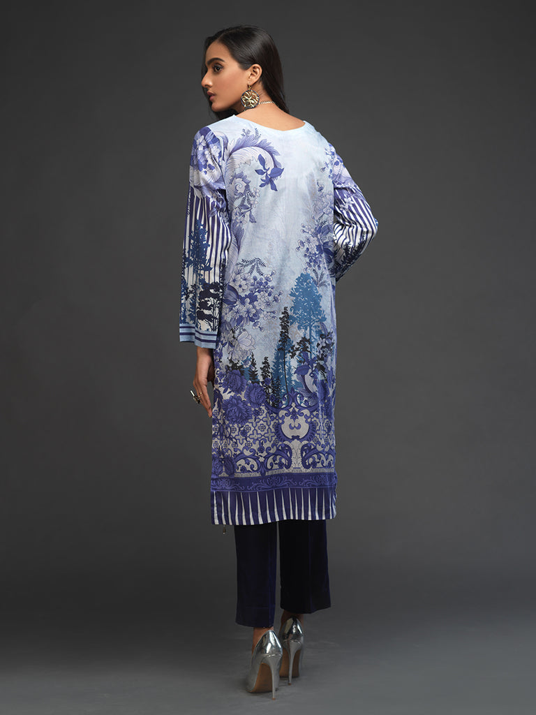 Un-stitched 1pc Digital Printed Kurti (UK-00006)