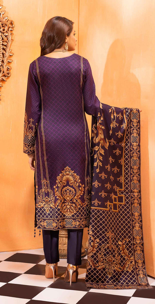 Unstitched 3pc Printed Lawn Shirt with Printed Lawn Dupatta - INAYA2 (IP-26B)