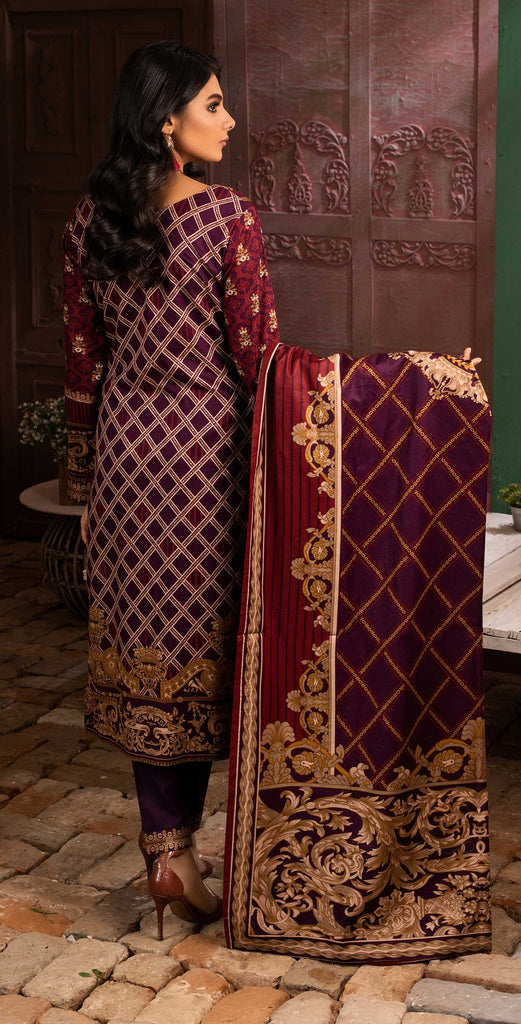 Unstitched 3pc Printed Lawn Shirt with Printed Lawn Dupatta - INAYA (IP-01B)