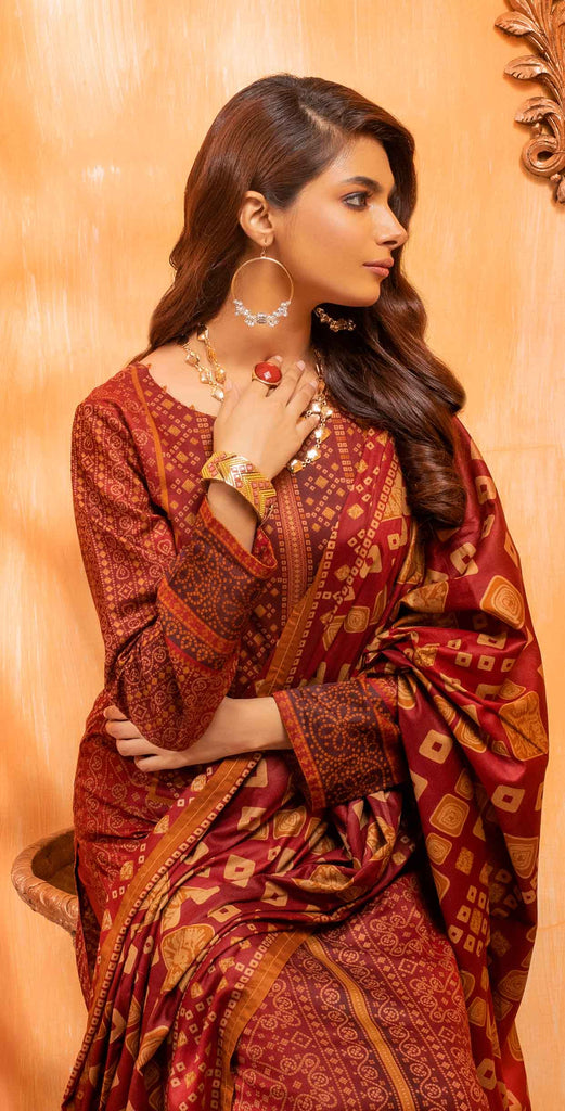 Unstitched 3pc Printed Lawn Shirt with Printed Lawn Dupatta - INAYA2 (IP-25A)