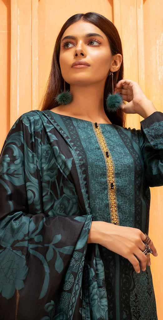 Unstitched 3pc Printed Lawn Shirt with Printed Lawn Dupatta - INAYA2 (IP-21B)