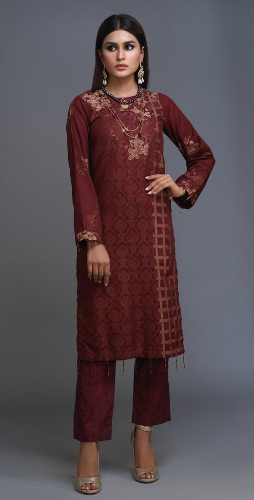 Stitched 1pc jacquard Shirt (KCP-14B)