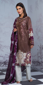 Printed Lawn Shirt with Embroidered Front & Lawn Jacquard Dupatta | Festive Poshmal 3pc (WK-310B)