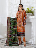 3pc Printed Cambric Shirt with Printed Lawn Dupatta & Cambric Trouser - Inaya (IP-00052A)