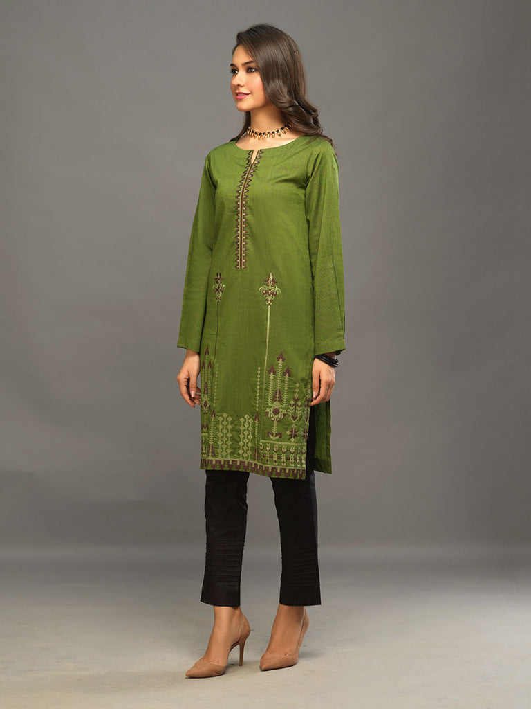Sticthed 1pc Two Toned Kurti   - Casual Pret (CP-00023)