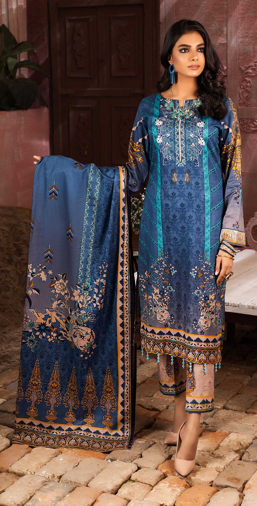 Unstitched 3pc Printed Lawn Shirt with Printed Lawn Dupatta - INAYA (IP-04B)