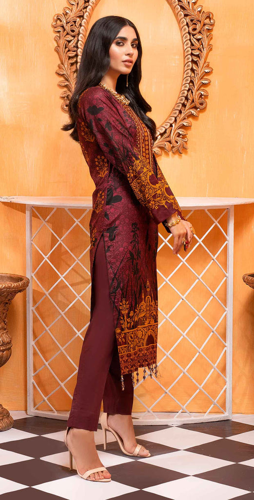 Unstitched 3pc Printed Lawn Shirt with Printed Lawn Dupatta - INAYA2 (IP-22B)