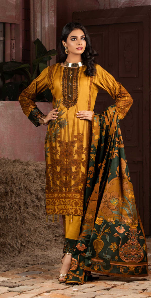 Unstitched 3pc Printed Lawn Shirt with Printed Lawn Dupatta - INAYA (IP-12A)