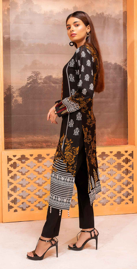 Unstitched 3pc Printed Lawn Shirt with Printed Lawn Dupatta - INAYA2 (IP-19A)