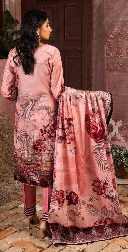 Unstitched 3pc Printed Lawn Shirt with Printed Lawn Dupatta - INAYA (IP-06B)