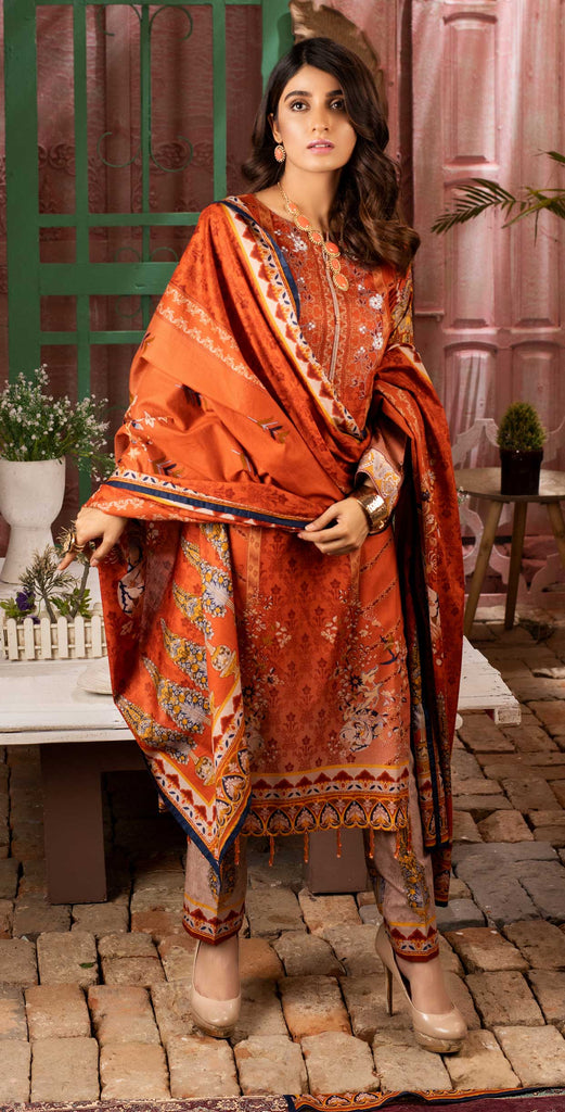 Unstitched 3pc Printed Lawn Shirt with Printed Lawn Dupatta - INAYA (IP-04A)