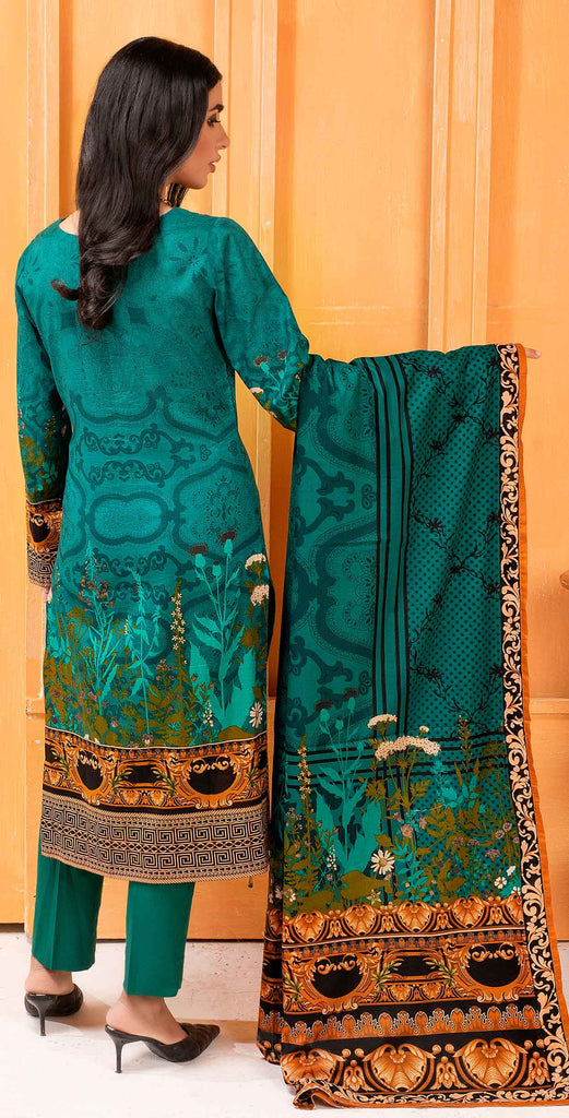 Unstitched 3pc Printed Lawn Shirt with Printed Lawn Dupatta - INAYA2 (IP-23A)