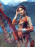 3pc Printed Embroidered Cambric Shirt & Printed Embroidered Chiffon Dupatta - LaRobe (Wk-00566B)
