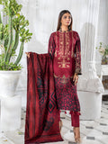 3pc Printed Cambric Shirt with Printed Lawn Dupatta & Cambric Trouser - Inaya (IP-00046A)