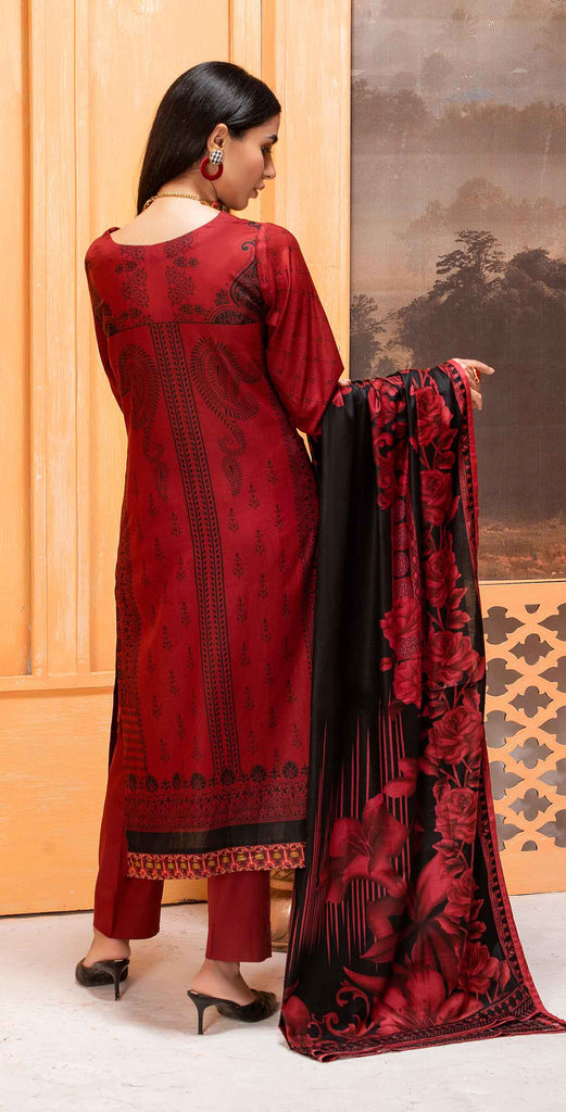 Unstitched 3pc Printed Lawn Shirt with Printed Lawn Dupatta - INAYA2 (IP-21A)