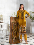 3pc Printed Cambric Shirt with Printed Lawn Dupatta & Cambric Trouser - Inaya (IP-00049B)