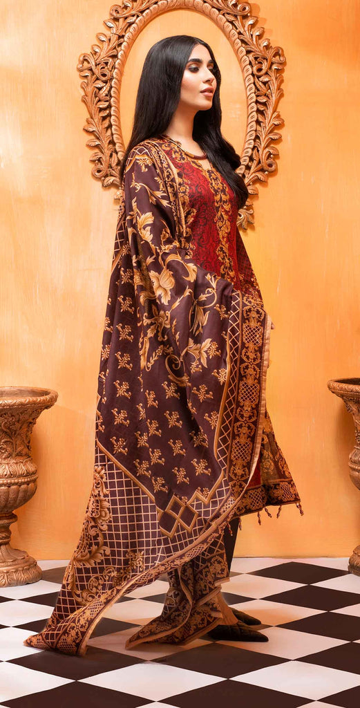 Unstitched 3pc Printed Lawn Shirt with Printed Lawn Dupatta - INAYA2 (IP-26A)