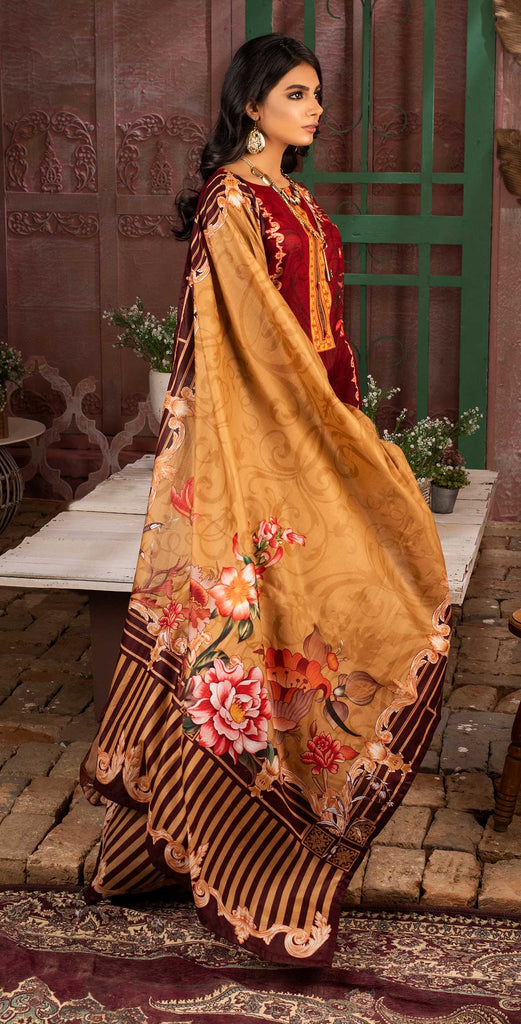 Unstitched 3pc Printed Lawn Shirt with Printed Lawn Dupatta - INAYA (IP-05B)